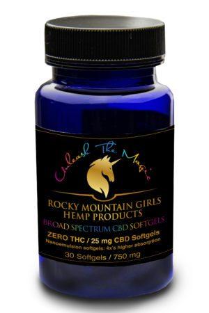Rocky-Mountain-Girls-Hemp-Products-Broad Spectrum CBD Softgels 25mg