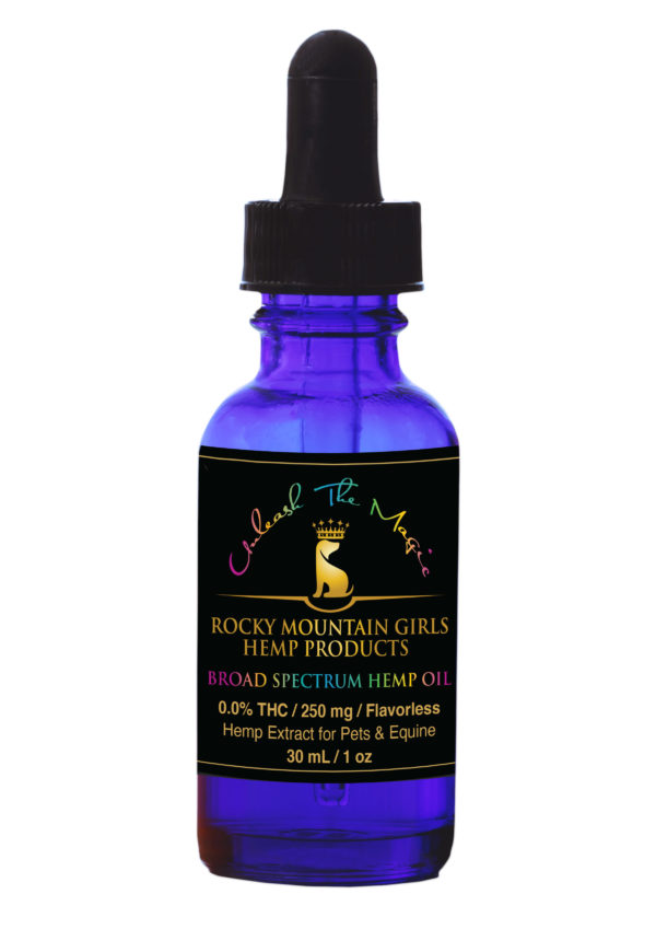 CBD For Pets-Rocky Mountain Girls Hemp CBD Products for People, Pets and Horses -Broad Spectrum Dog_Pet CBD Oil – 250mg Flavorless.jpg
