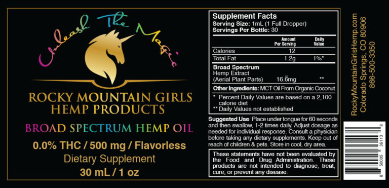 Rocky Mountain Girls Hemp Products CBD Oil 500mg MCT Flavorless MCT Label.jpg