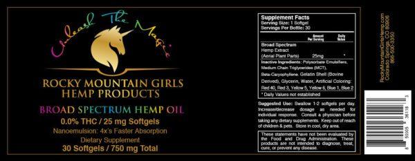 Rocky Mountain Girls Hemp Products CBD Softgels 25mg 30ct.jpg