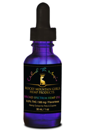 Rocky Mountain Girls Hemp Products Pet CBD Oil 500mg MCT Flavorless