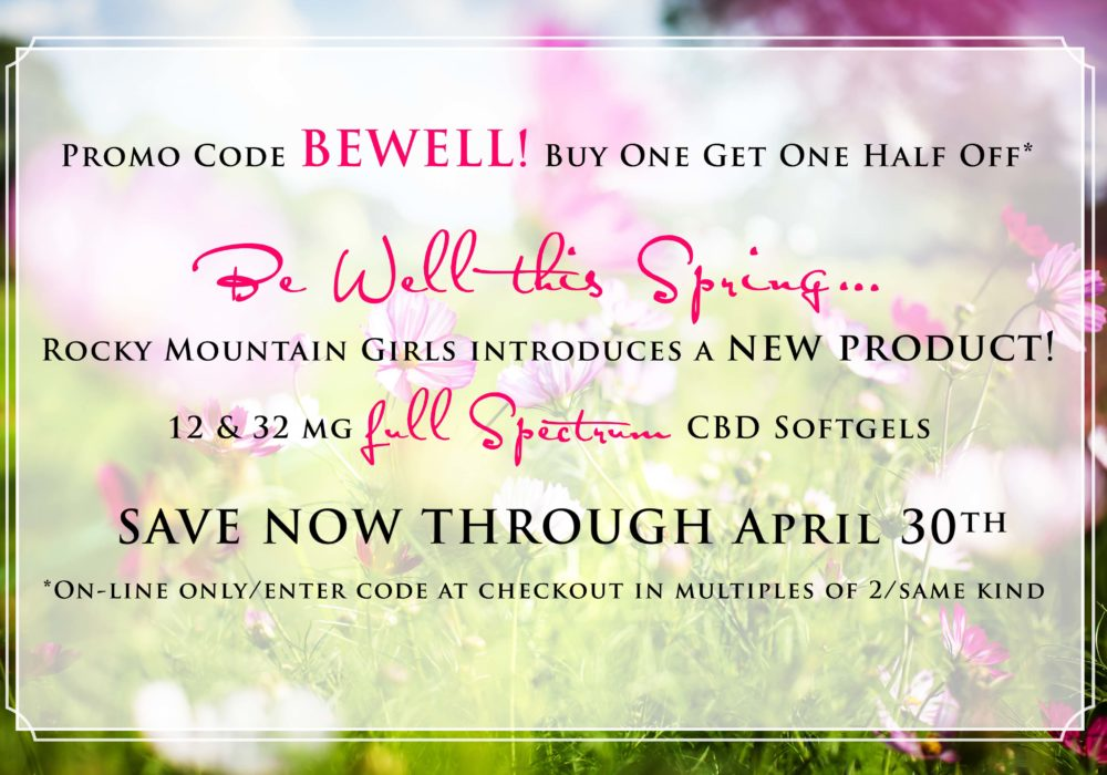 Rocky Mountain Girls Hemp Products April Promo