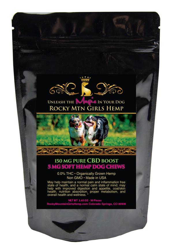 CBD Dog Chews - Rocky Mountain Girls CBD Hemp Products Dog Chews 30-Piece
