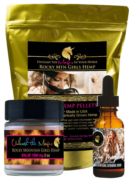 CBD For Horses - Rocky-Mountain-Girls-Hemp-Products-Horse-and-Rider-Bundle