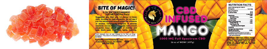 RMG Mango Chews Label